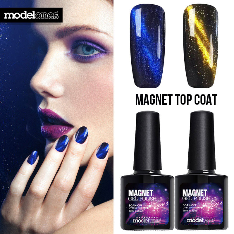 Moldelones Soak Off Magnetic 3D Cat Eye Gel Nail Polish Base Top ...