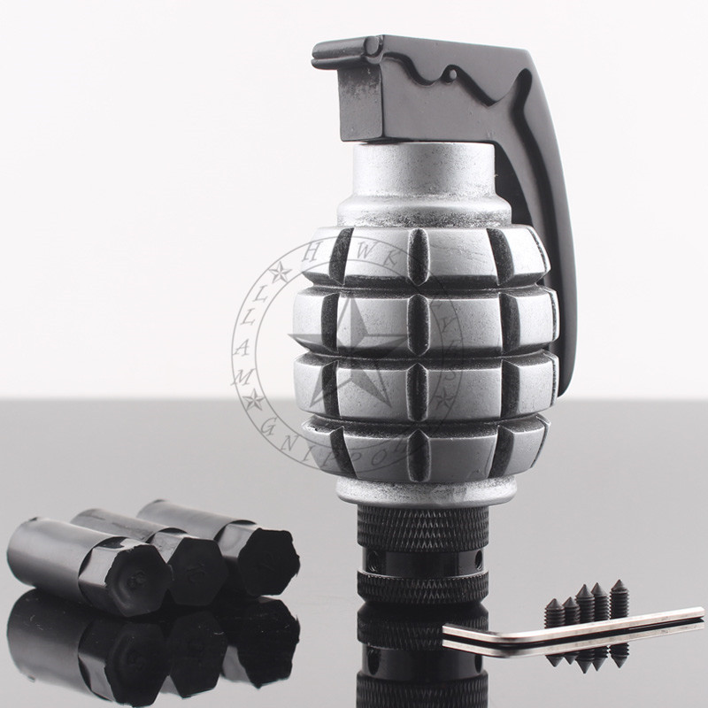 Chrome Grenade Shape Car Truck Manual Stick Gear Shift