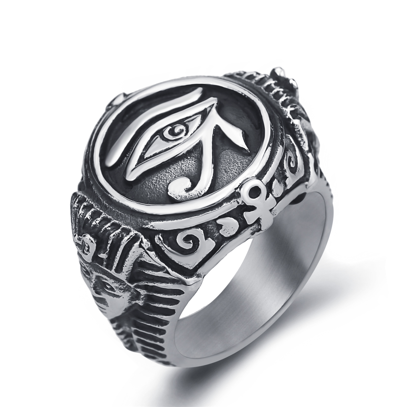 ring ankh egypt of rings egyptian products sterling hieroglyphs eye horus silver udjat wedding