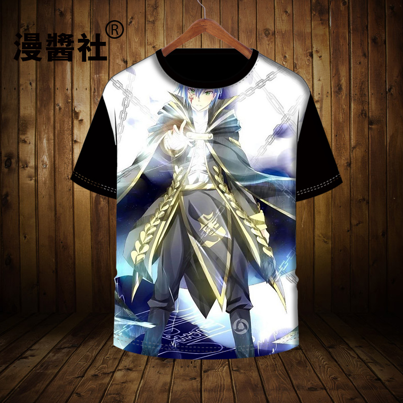 Anime Fairy Tail Casual Unisex Pullover White T-shirt Short Sleeve Tee Cosplay