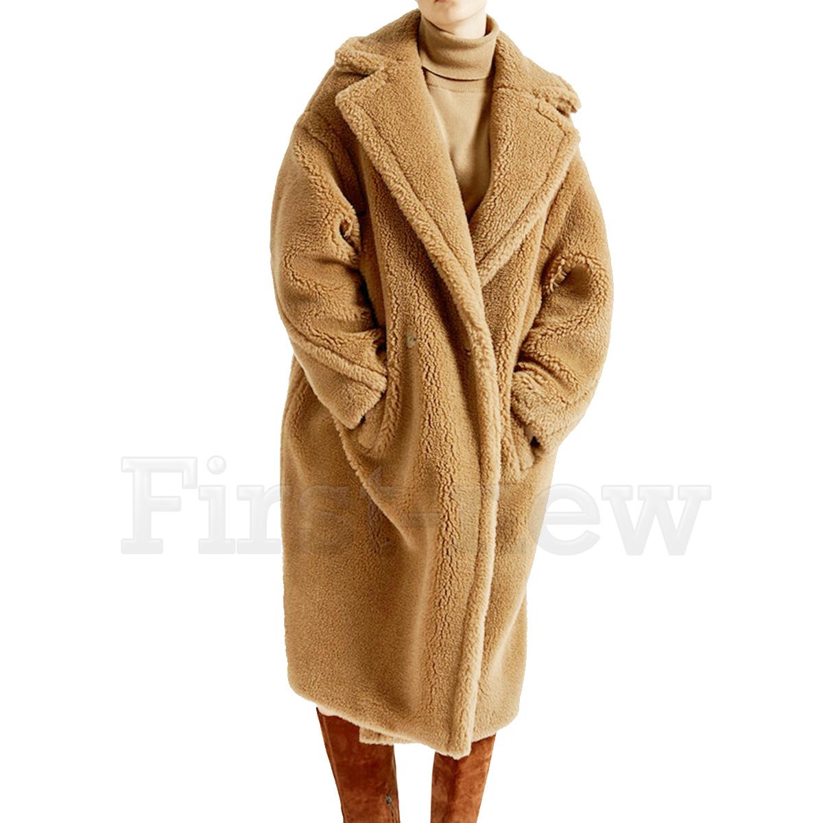 17bd61bf5 Details about Womens Bear Feel Fluffy Oversized Faux Fur Maxi Long Coat  Luxury Winter Jackets