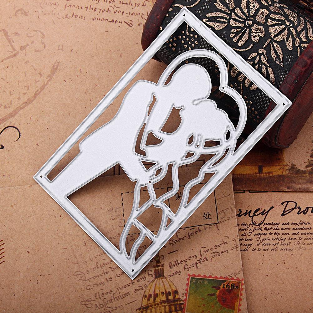 Lover Couples Metal Cutting Dies Stencil Scrapbook Albumpapercard