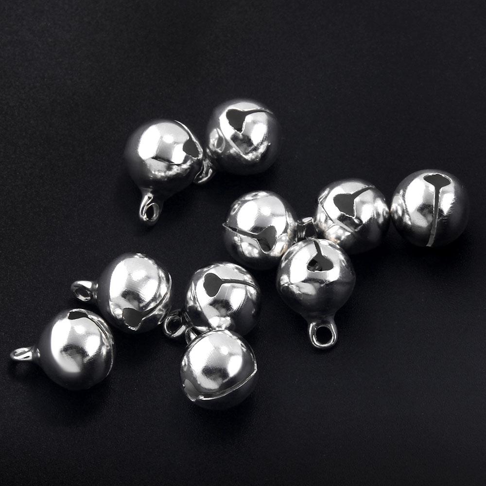 10pcs Big 20 mm silver jingle bells Charm Christmas Pendant