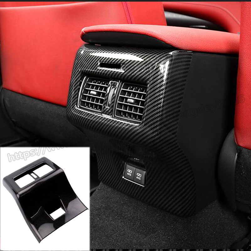 Toyota Camry 2018 Interior >> Details About For Toyota Camry 2018 2019 Carbon Fiber Interior Rear Air Outlet Vent Frame 1pcs