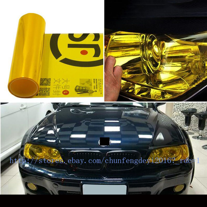 Chameleon color changing tint vinyl wrap sticker headlight film car light lamp-T
