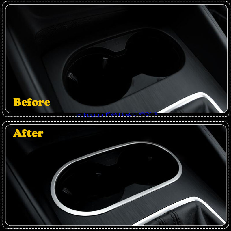 Interior Water Cup Holder Decoration cover trim 1pcs For Audi A3 8V 2012-2015 z
