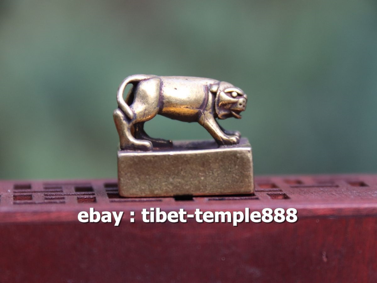 Chinese Bronze Palace Elephant Animal Dynasty Imperial Seal Stamp Signet Statue
