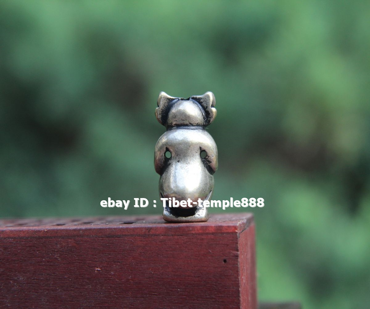 3 CM Chinese Buddhism 100/% Pure Bronze Monkey Watchmen Statue Amulet Pendant