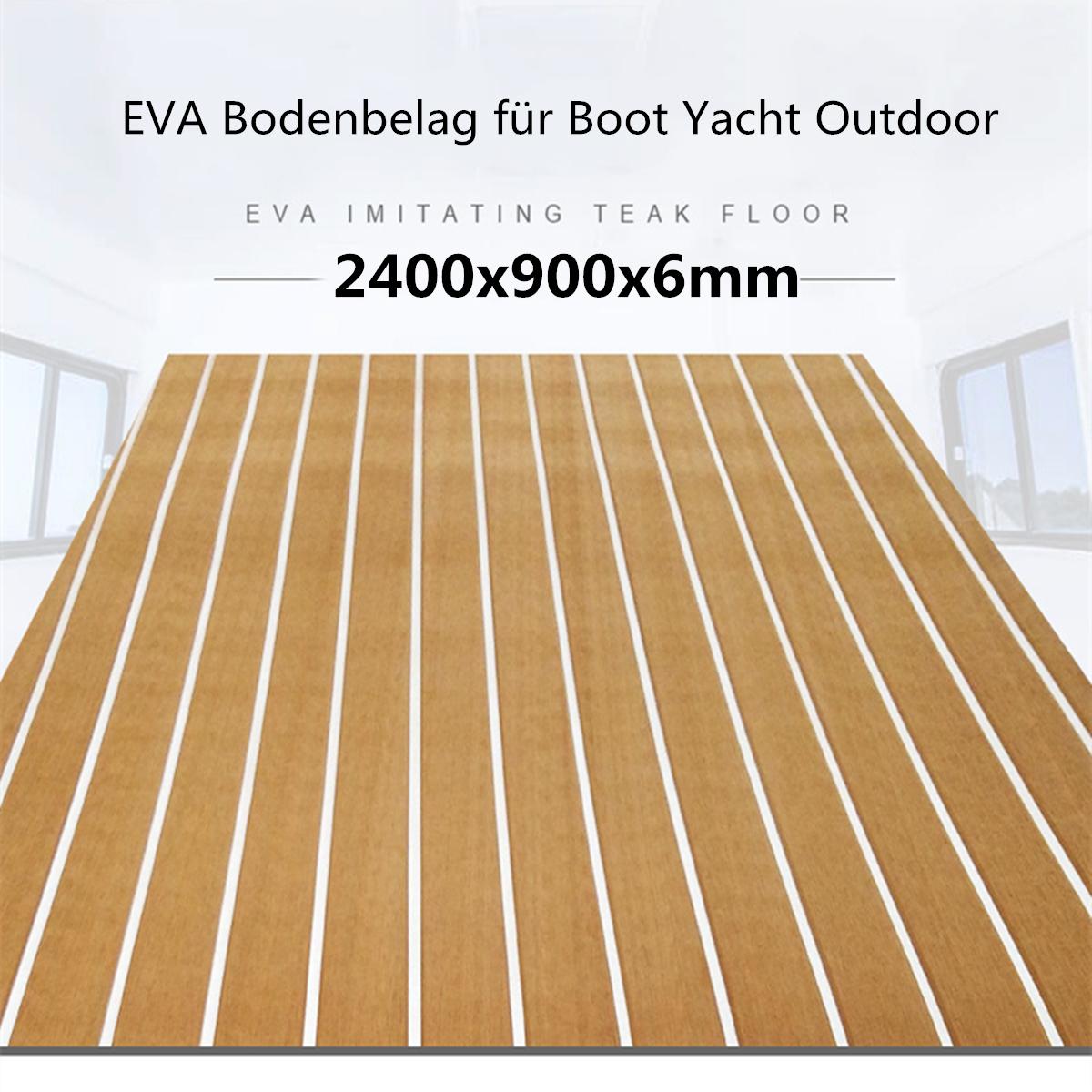 EVA Schaum Yacht Bodenbelag Bootsmatte Fußboden Teak Selbstklebend Matt 70x190cm