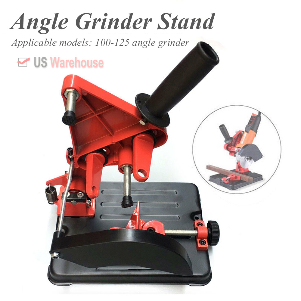 100-125MM Angle Grinder Stand Cutting Holder Cutter Support Cast Iron base US