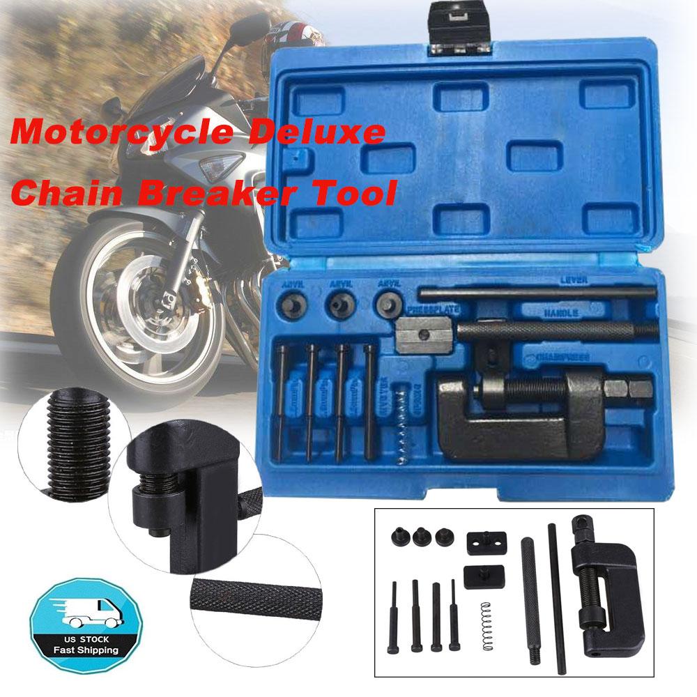 Motorcycle Deluxe Chain Breaker Kit Cutter Rivet Tool 520//530//525//630 Pitch ATV