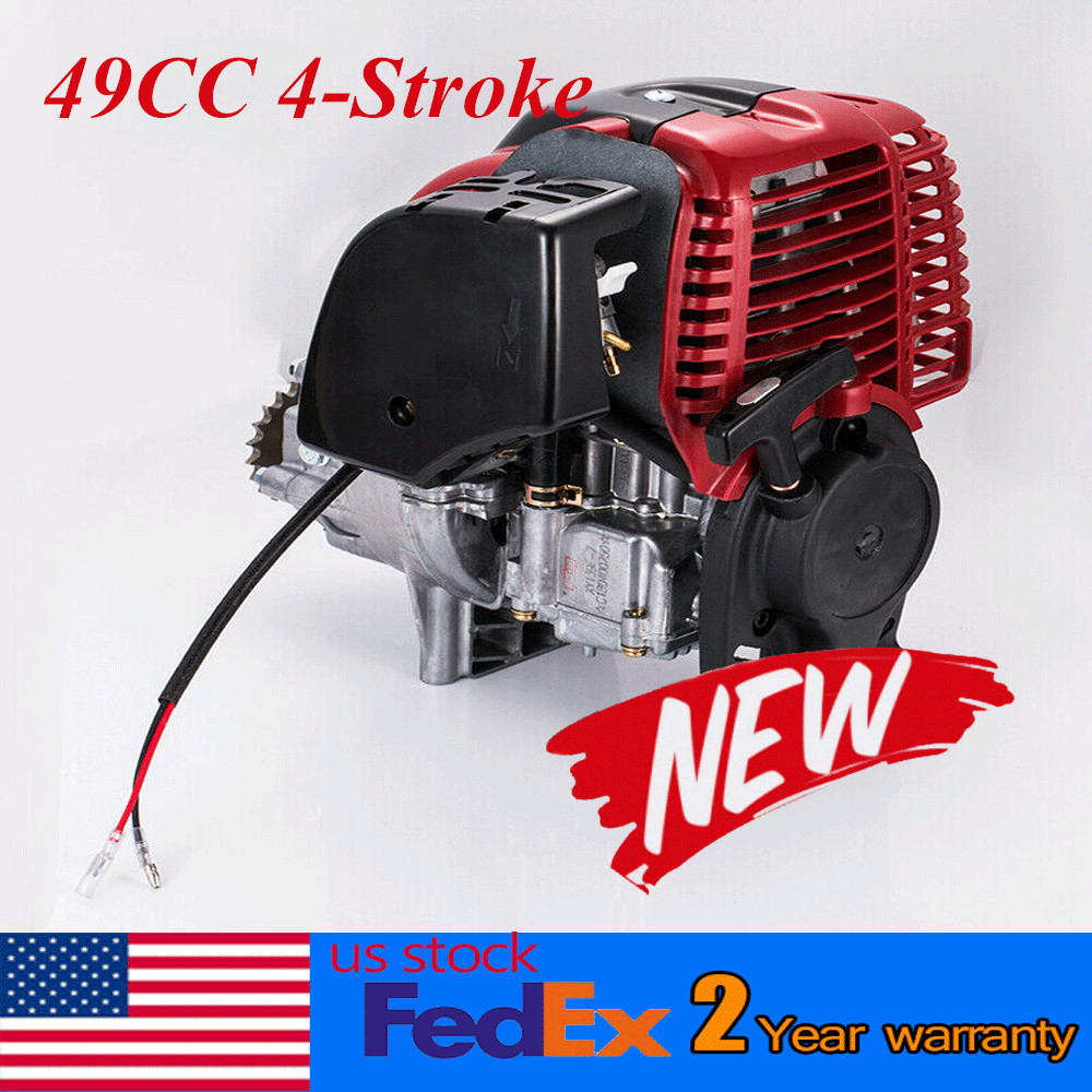 Details about 49cc 4 stroke Pull Start Engine Motor for Mini Pocket Scooter  Chopper Dirt Bike
