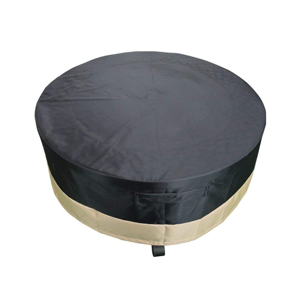 Enjoyable Details About Full Coverage Round Fire Pit Cover Table C Black 60 Inch Ibusinesslaw Wood Chair Design Ideas Ibusinesslaworg