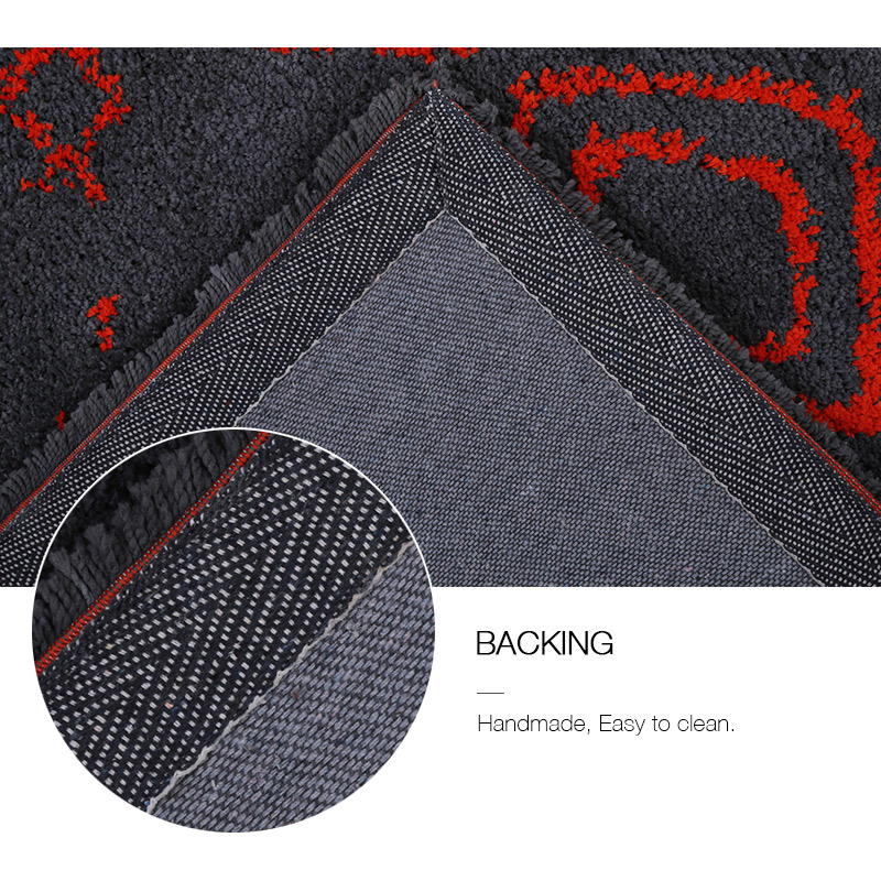 Tribal Rug Melbourne: Large Red Charcoal Moroccan Rug Diamond Tribal Super Soft