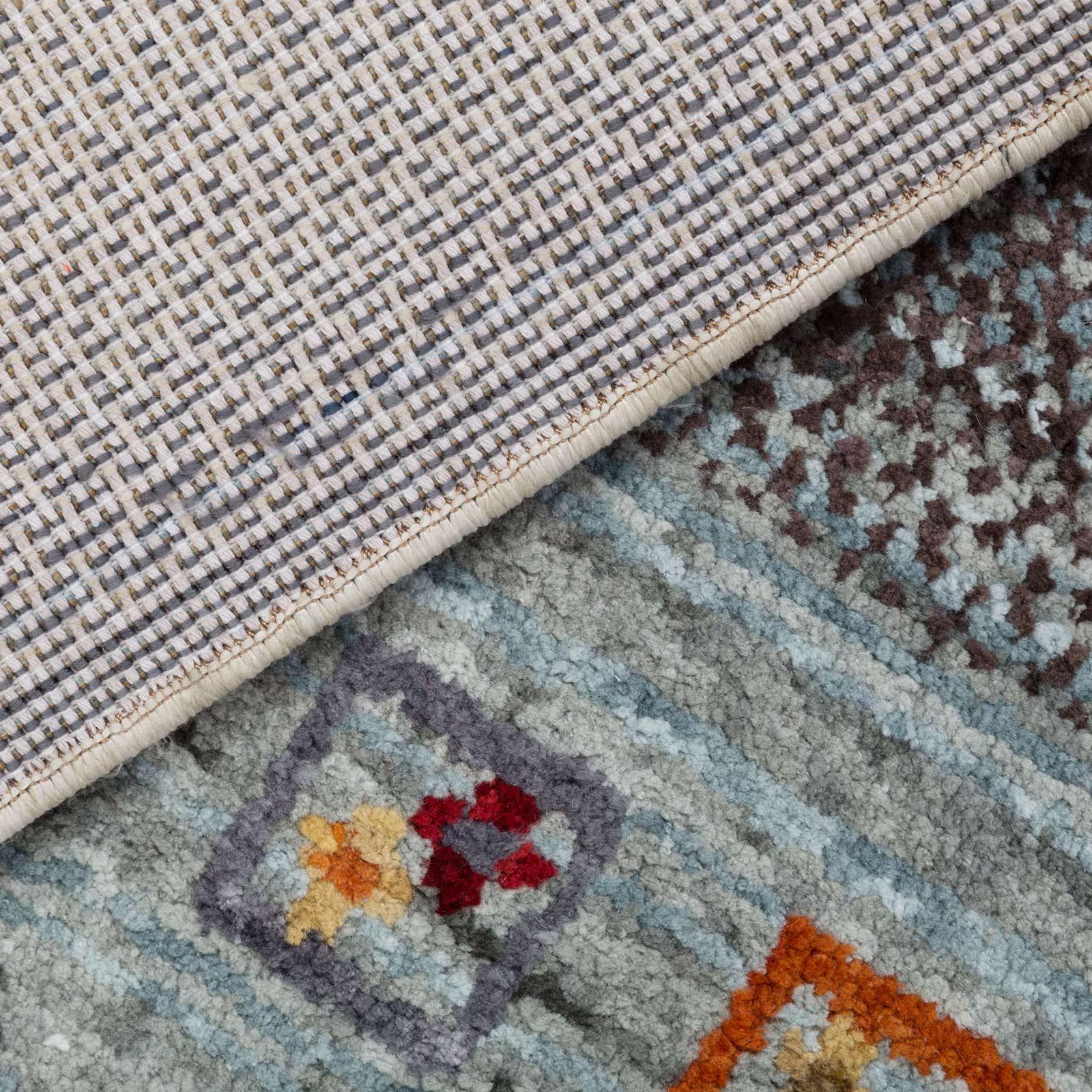 gabbeh teppich wohnzimmer mehrfarbig grau beige rot creme