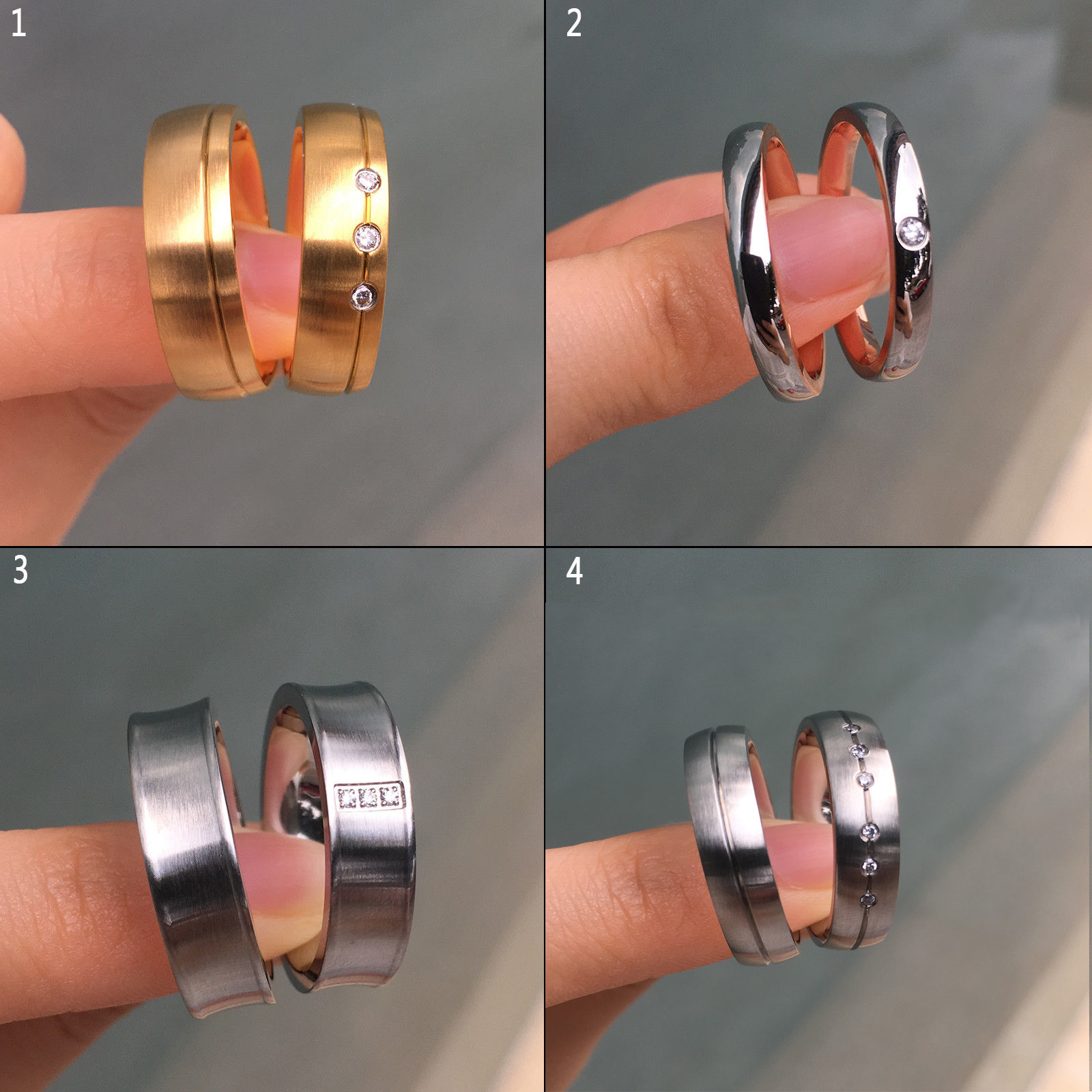 Details about His & Hers Cz Stainless Steel Couple Rings Men's Women's  Wedding Band Size 6-12