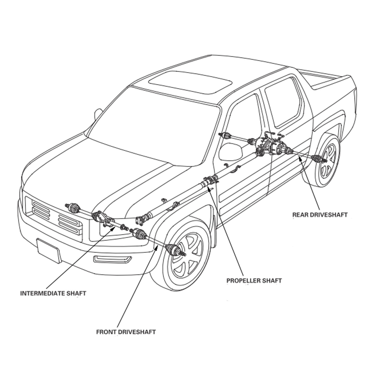 plete rear drive shaft assembly for 08 10 honda cr v 4wd RC in Snow a longer shaft experiences more torque so often a long driveshaft may be posed of two pieces these are types of drive shafts have a driveshaft support