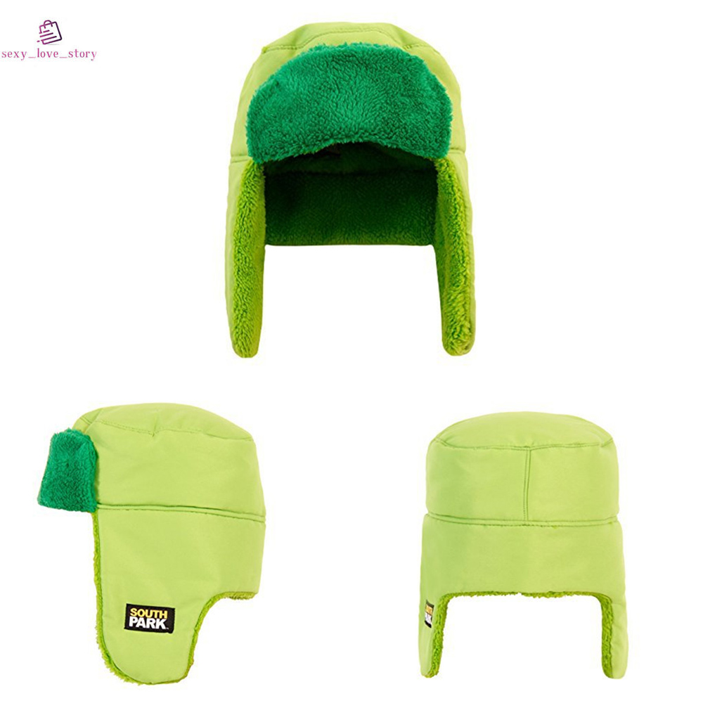 e4c5a929eee Details about South Park Faux Trapper Hat Adult Unisex Cosplay Kyle  Broflovski Green Cotton UK