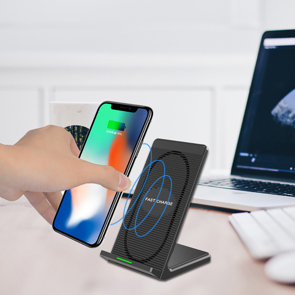 fdgao qi wireless charger l fter dock kabelloses ladeger t. Black Bedroom Furniture Sets. Home Design Ideas