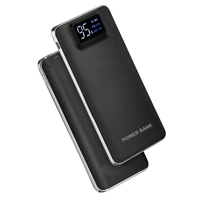us portable slim 50000mah 2 usb lcd