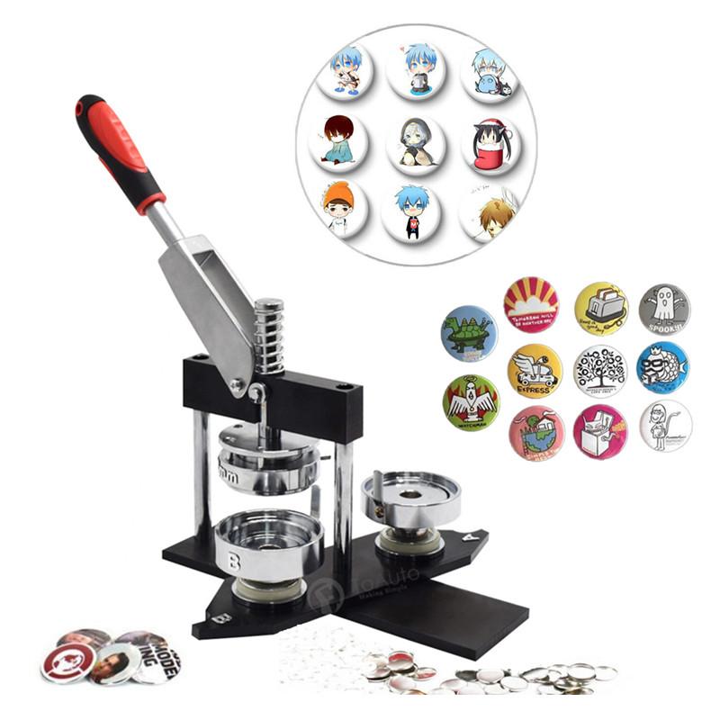 300 Sets Button Supplies Circle Cutter Badge Press Machine Button Pin Maker