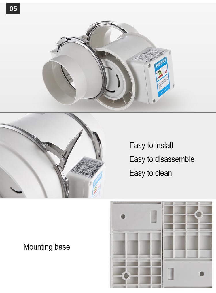 8 inline duct fan hydroponic exhaust fan ventilation - Bathroom exhaust fan duct reducer ...