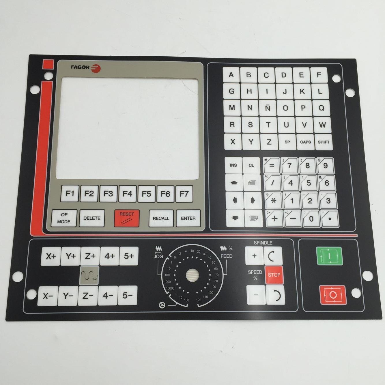 8055M CNC 8050//55-GP FAGOR Key Button Membrane for CNC System 90 days Warranty