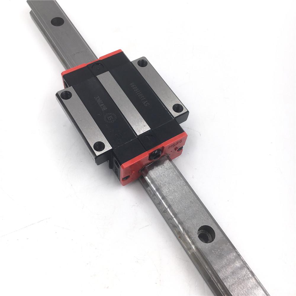 HIWIN Rail Guide HGR20 1000mm Linear 20mm/&HGH20CA HGW20CC Rail Block CNC DIY Kit