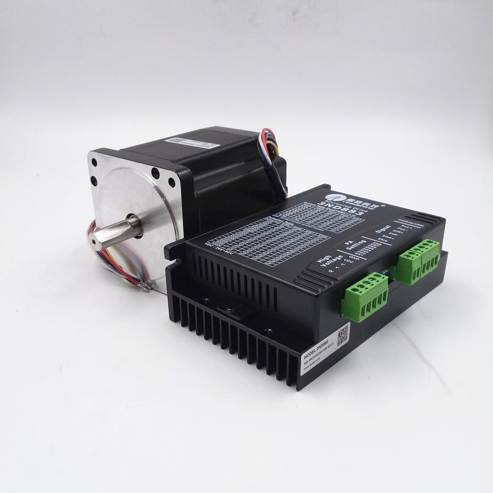 Hybrid NEMA34 3 Phase Stepper Drive Motor Kit 3ND883+863S42 4 2N m