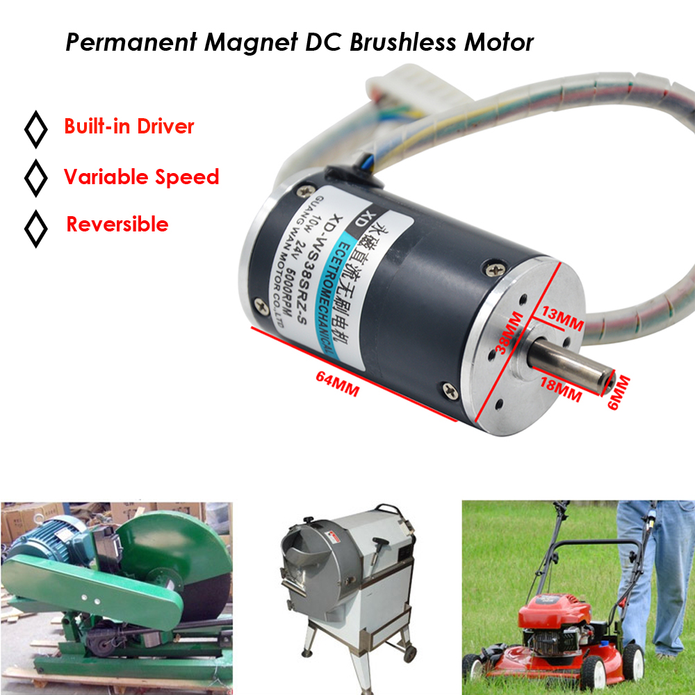 4000rpm Permanent Magnetic 24v Dc Motor Brushless Variable