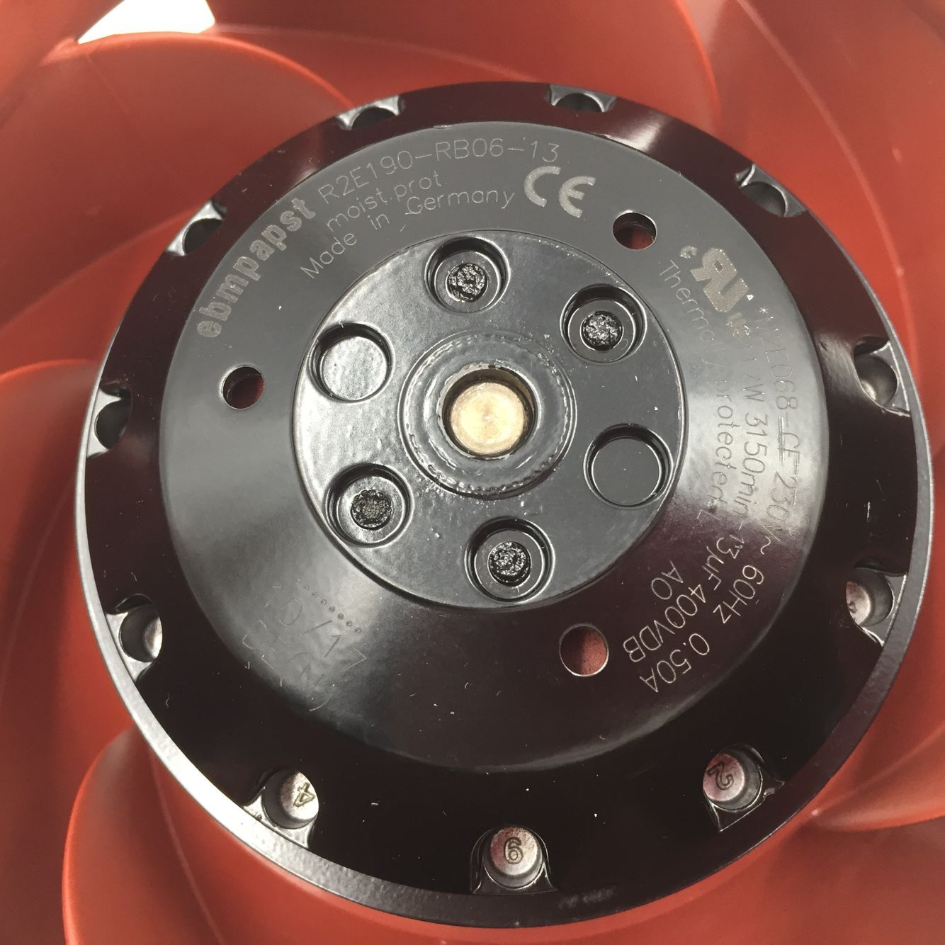 R2E190-RB06-13 Fan ebmpapst for Replace R2E190-AF58-13 Original #MF72 QL