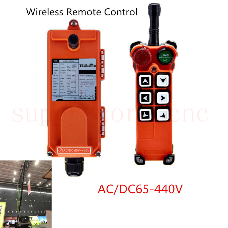 Industrial Crane Wireless Remote Control F21-2S AC//DC18V-65V 2 Transmitter + 1 Receiver Hoist with Single Speed Button