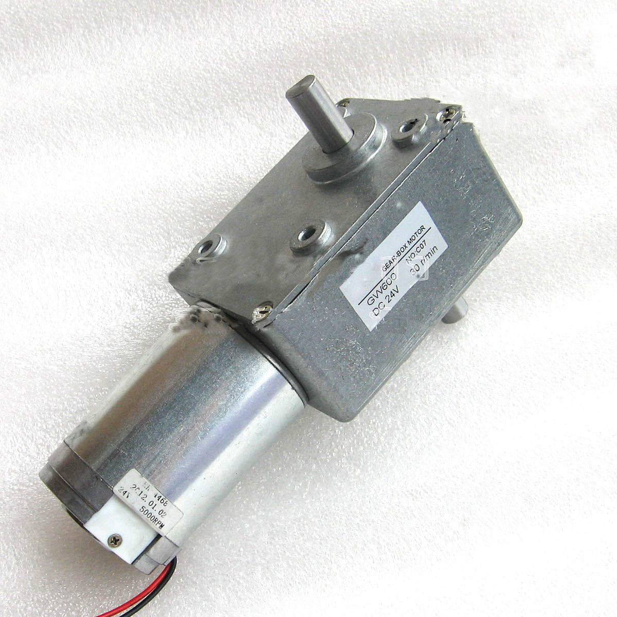 High Torque Turbo Worm Gear Motor 50RPM DC24V 4.9NM 50KG.CM Reduction Motor