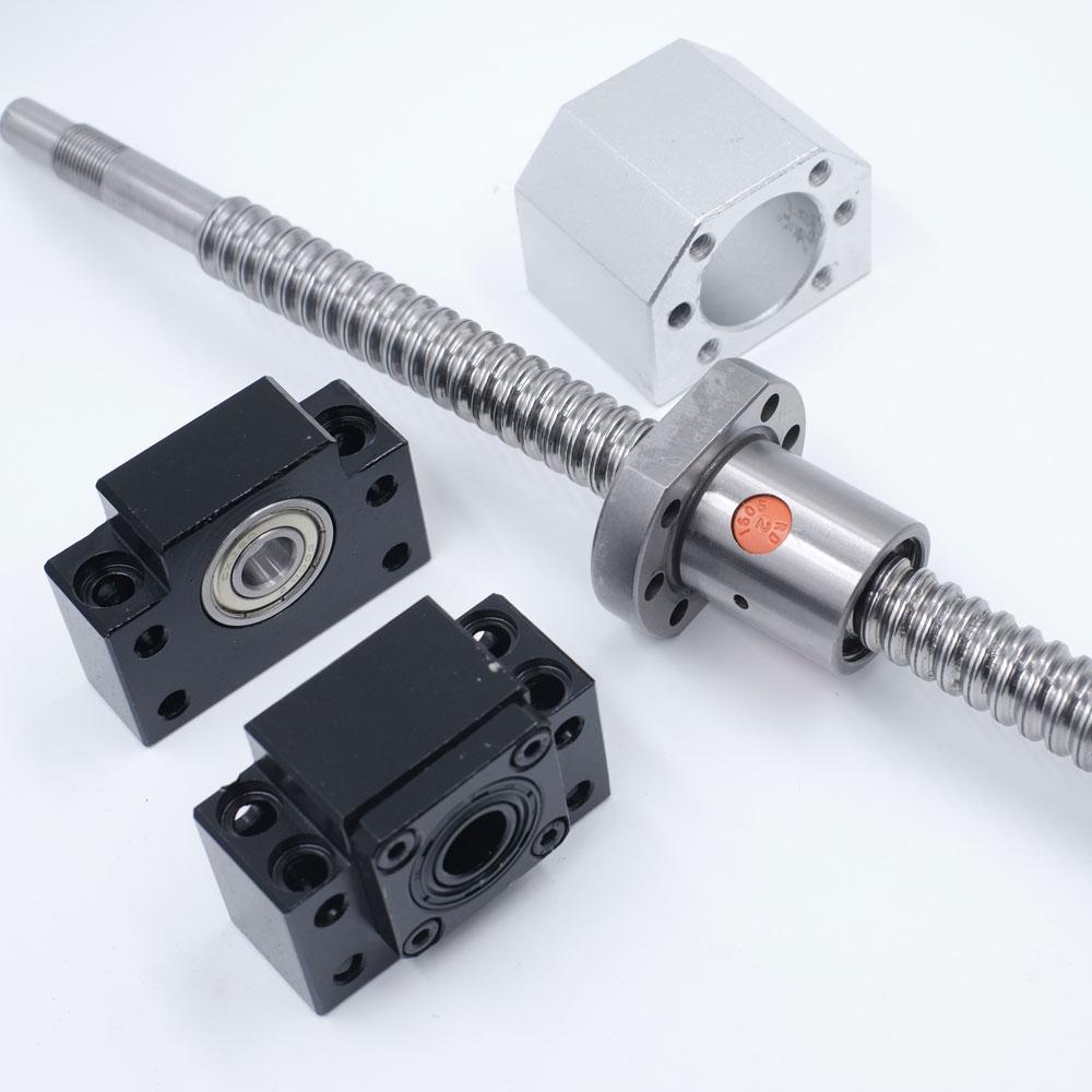Rolled Ballscrew SFU3205 RM3205 C7 L2500mm Total Ballnut /&BK//BF Support/&Bracket