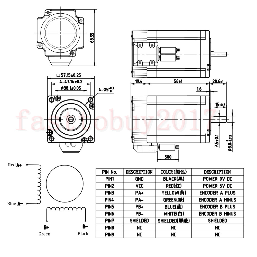 12nm Hybrid Servo Drive Nema23 Closed Loop Stepper Motor Diagram You May Also Like