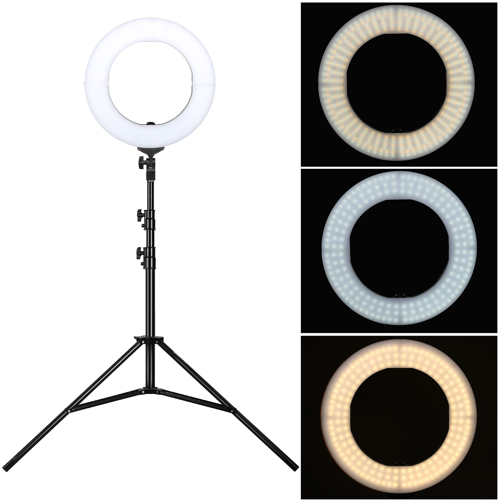 zomei 14 35w dimmbar led ring licht ringlight lighting kit f r kamera youtube ebay. Black Bedroom Furniture Sets. Home Design Ideas
