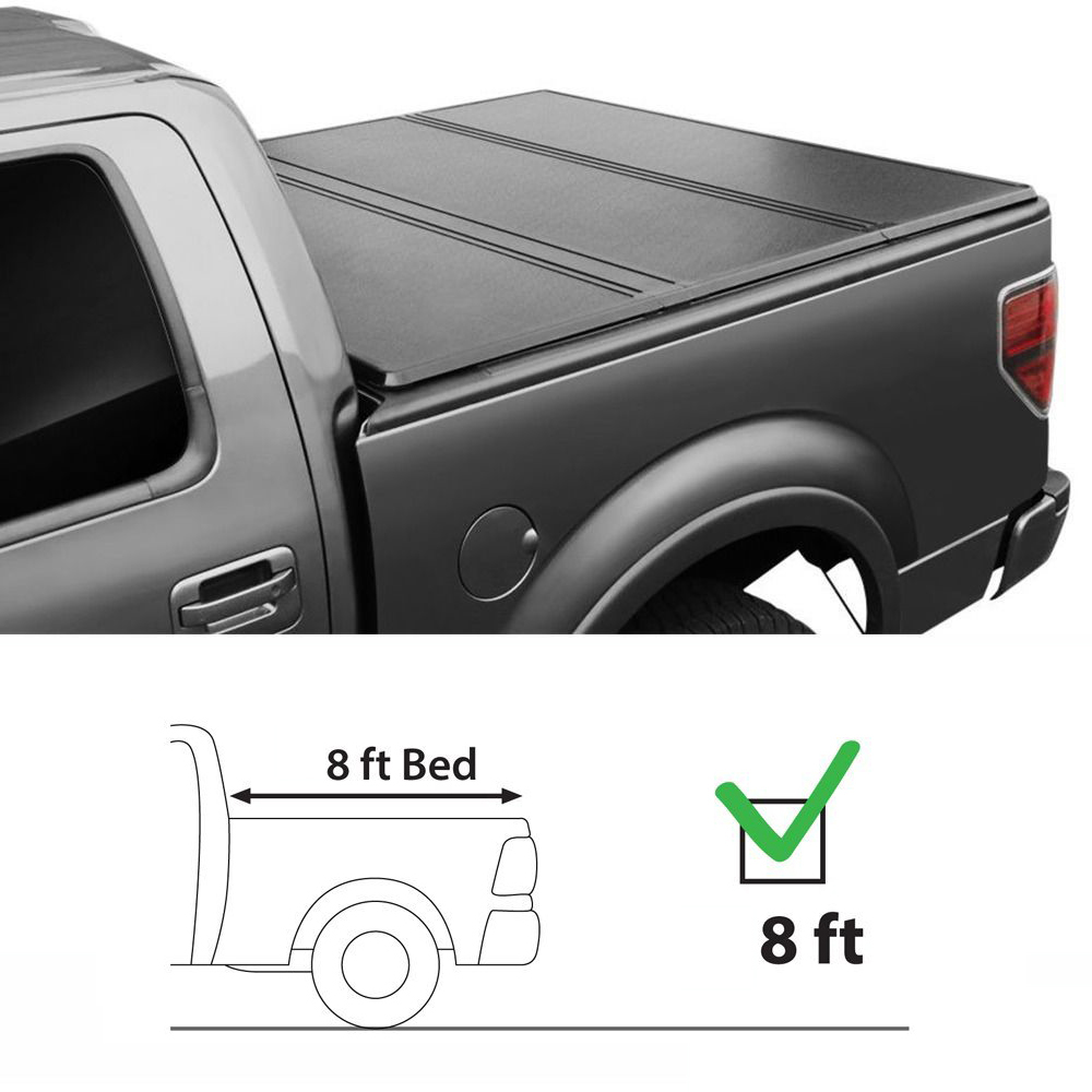 8ft 96 Lock Tri Fold Hard Solid Tonneau Cover Assembly For 14 18 Toyota Tundra Ebay