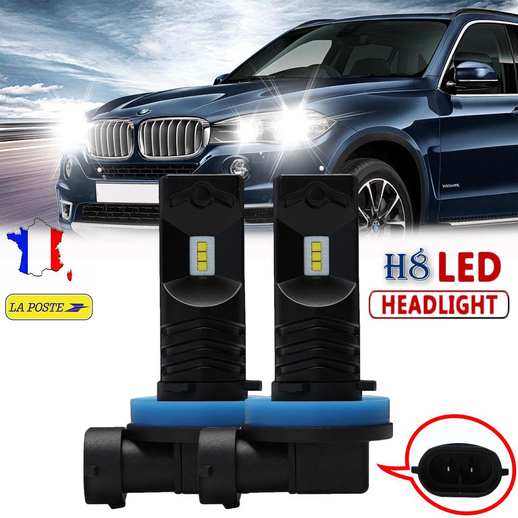 2pcs H8//H9//H11 80W CSP LED Phare de Voiture Ampoule lampe brouillard 6500K Blanc