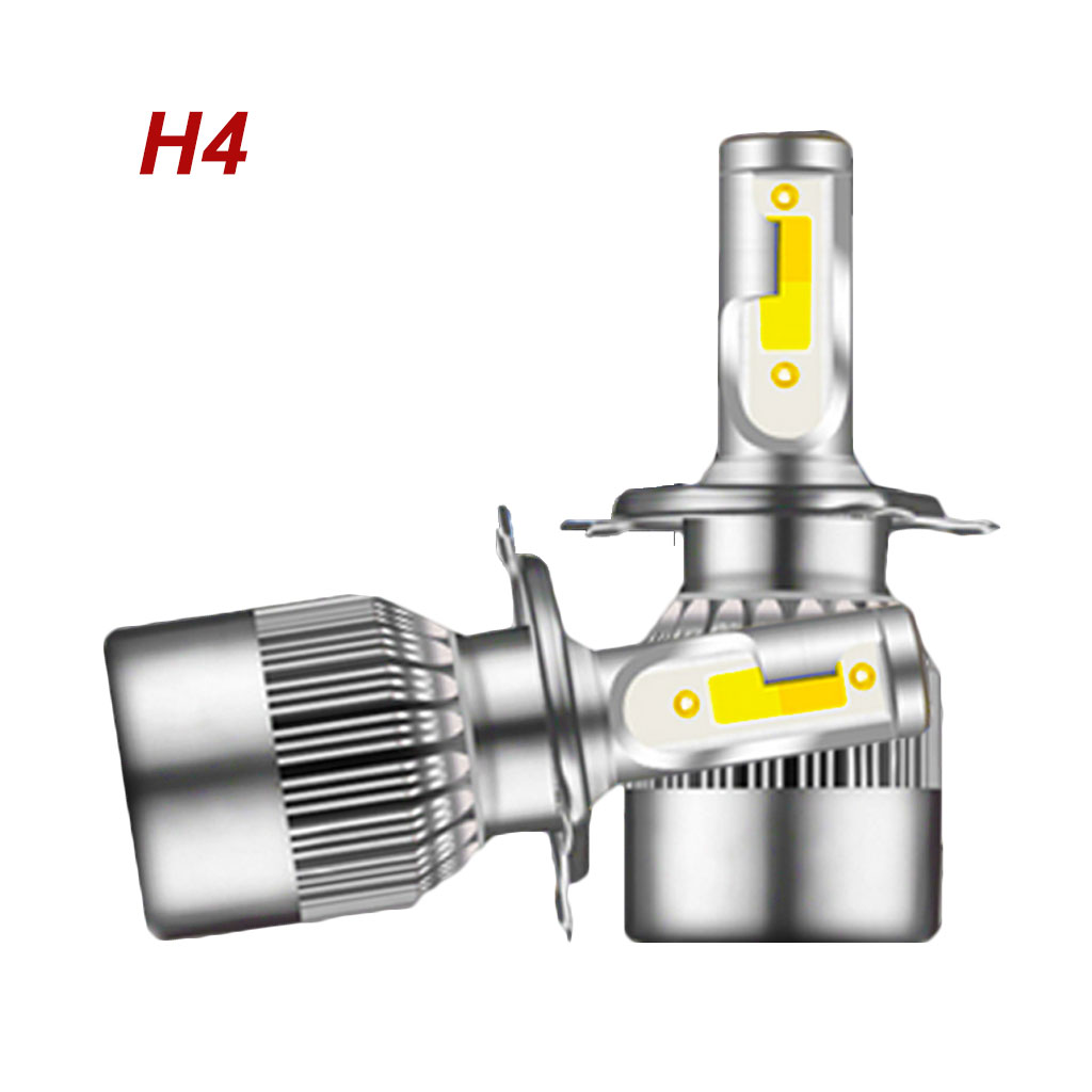 H4 55W LED Headlight Kit Dual Color Change Bulbs 6000K
