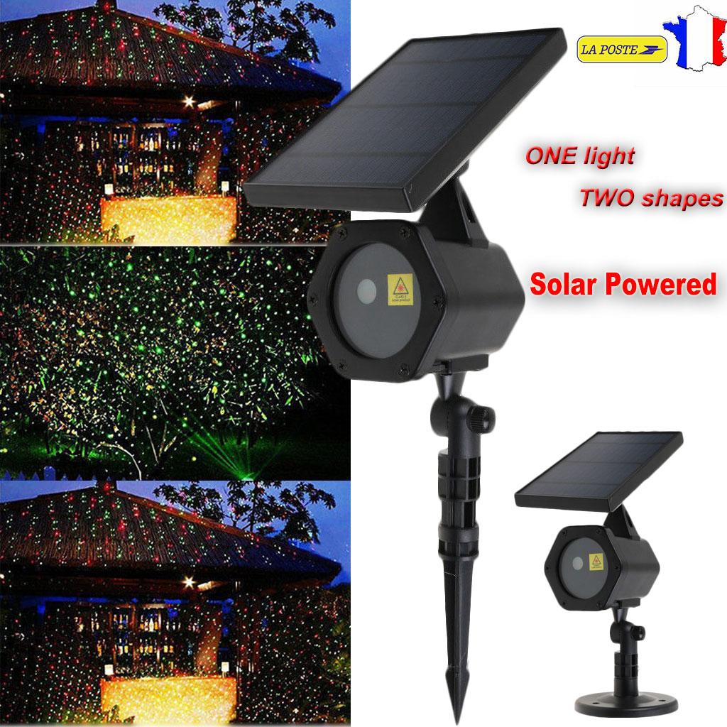solaire led lumi re laser dynamique projecteur rouge vert clairage no l f te ebay On laser solaire noel