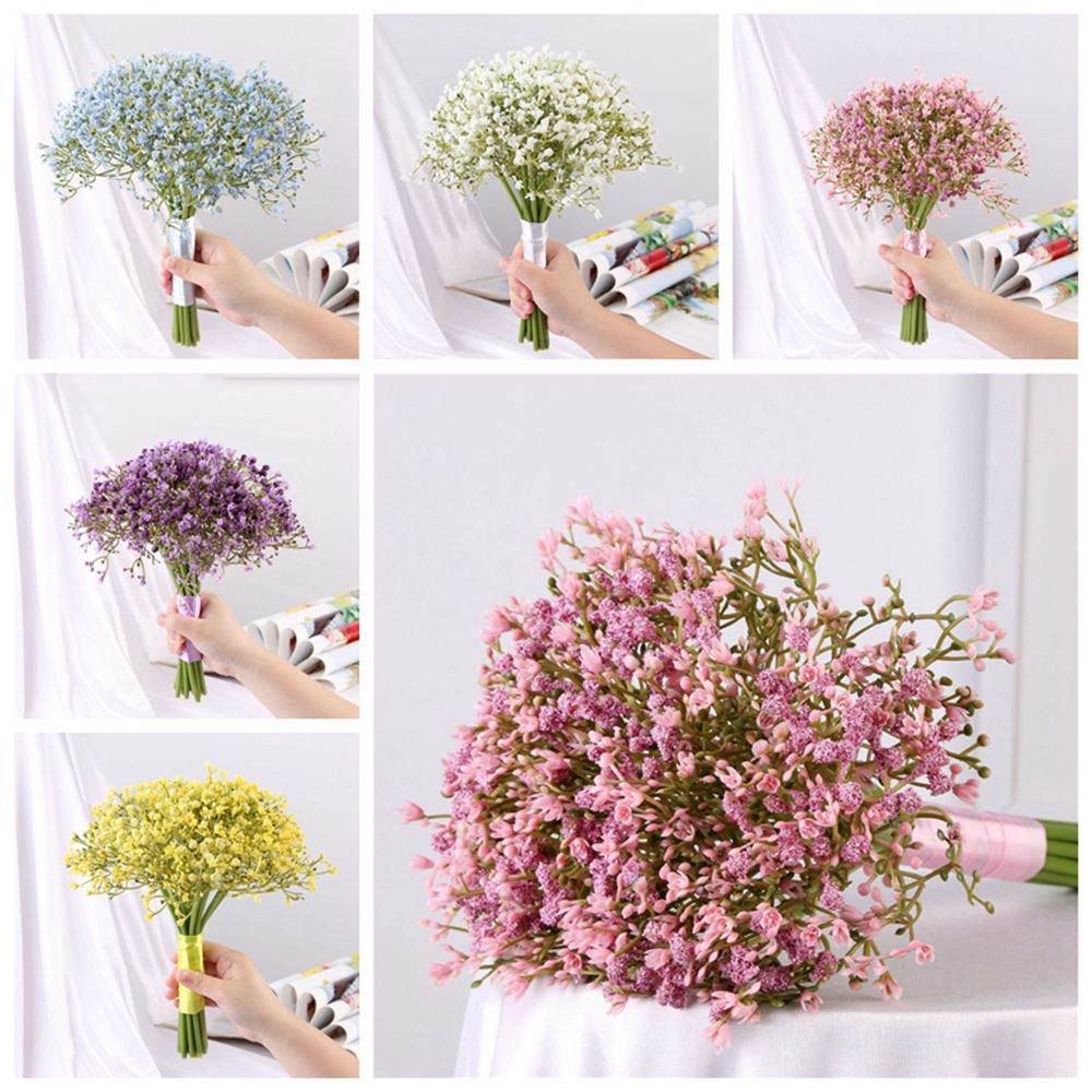 3Pcs Bunches Artificial Fake Silk Flower Home Baby Breath Wedding Garden Decor Z