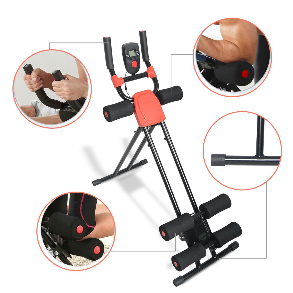 Ab Cruncher Abdominal Trainer Glider Machine Body Fitness Waist Power Exercise 2