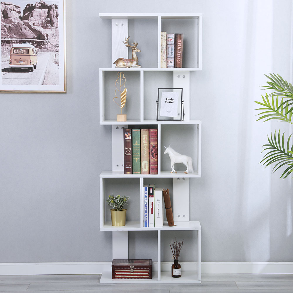 Beau Details About Bookcase Book Shelf Storage Organizer Rack Cabinet Bookshelf  Office 5 Layer