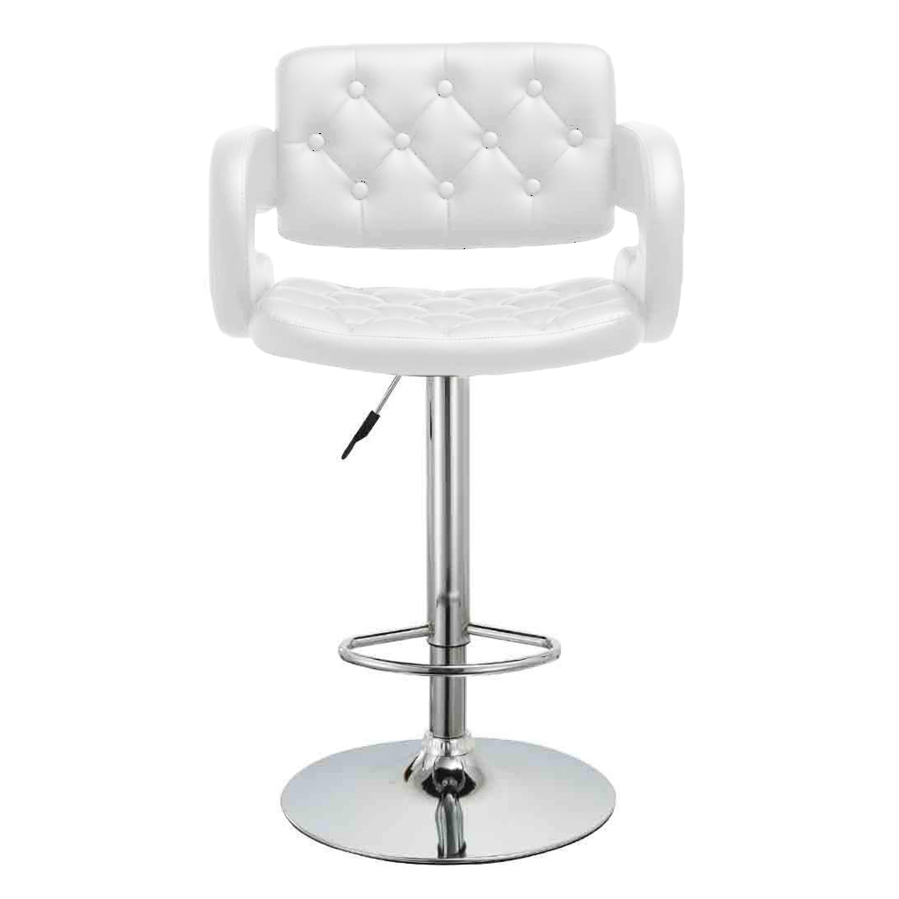Set Of 2 Bar Stool PU Leather Dining Chair Hydraulic