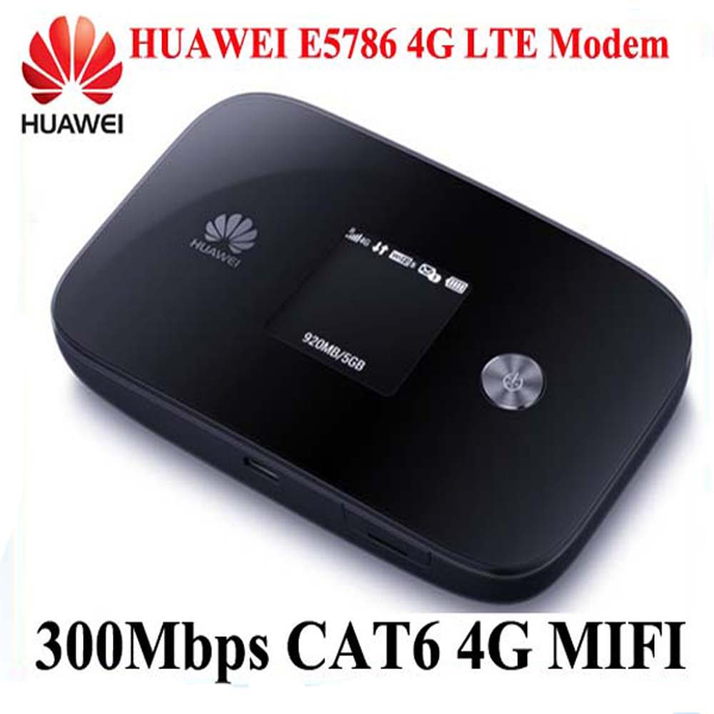 cat6 300mbps huawei e5786 lte 4g mobile wifi wireless. Black Bedroom Furniture Sets. Home Design Ideas