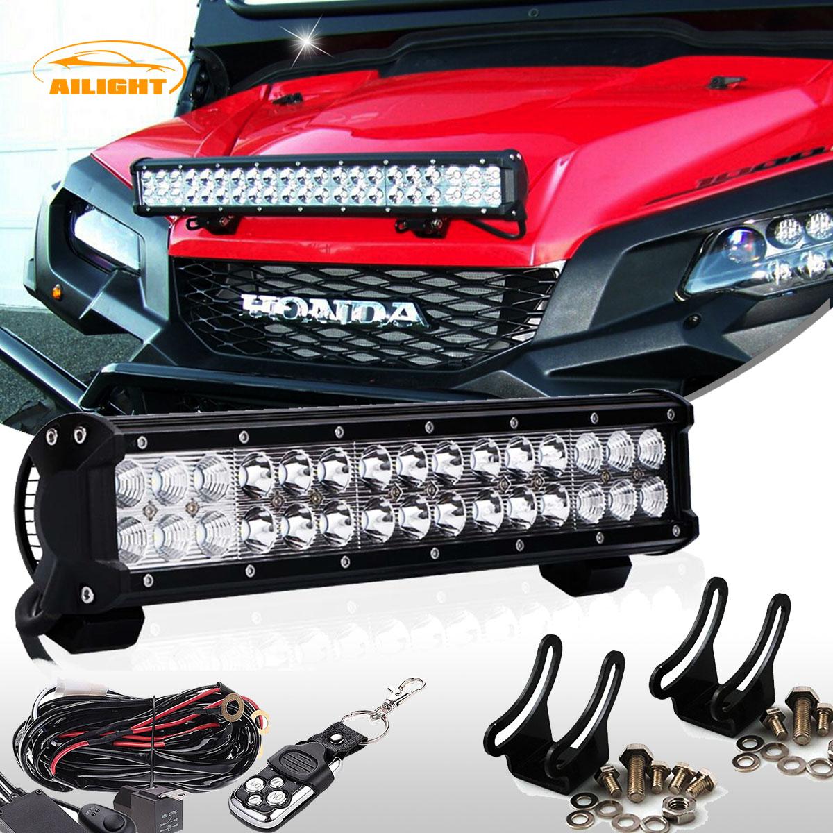 14 Quot Led Light Bar Combo Remote Wiring Kit For Honda