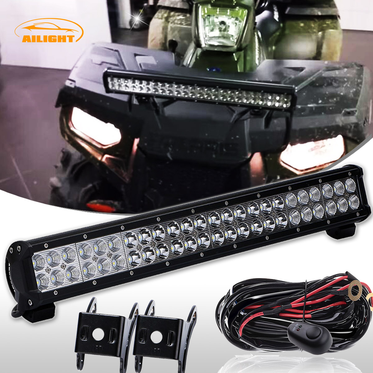 2012 Polaris Sportsman Forest Tractor 500 23inch 144w Led Light Bar Wiring Diagram For Kit