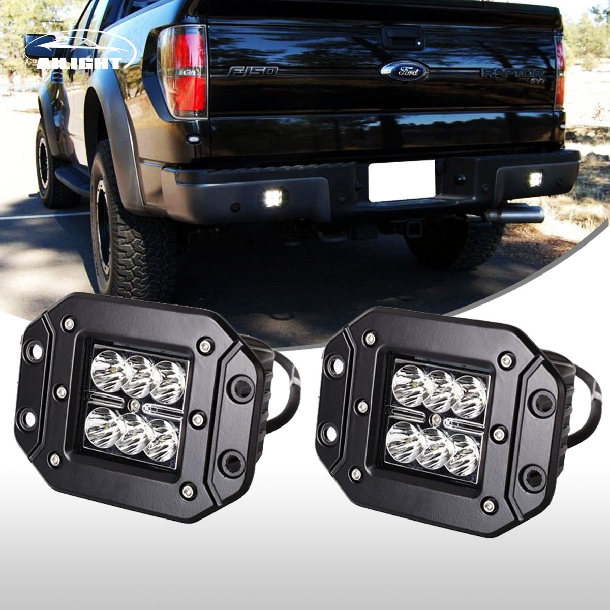 Details About 2x 4 Flush Mount Projector Led Lights Fit Ford Toyota Gmc Truck Off Road Atv