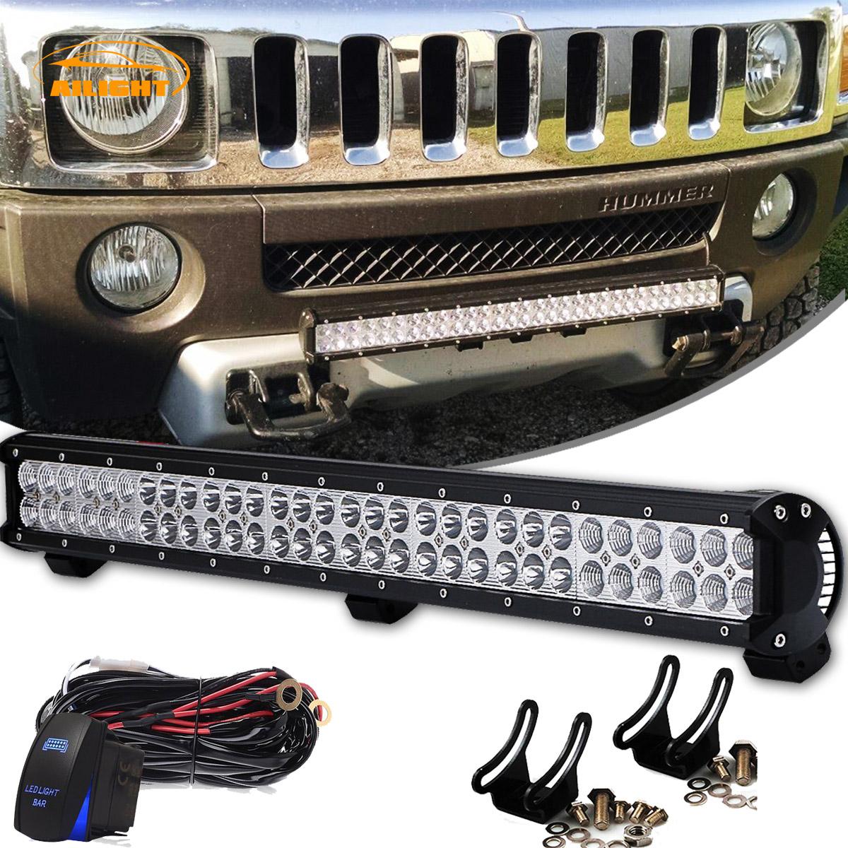180w 30 32 Straight Led Light Bar Rocker Switch Wiring Harness Atv Kit Suv