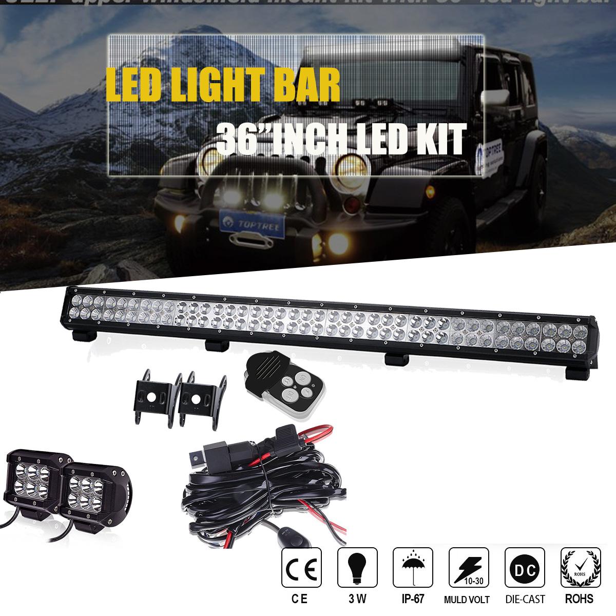 """50/""""+22/""""+4/"""" Led Light bar Sand Rail Dune Buggy Hot Rat Rod Car Truck Go Kart"""